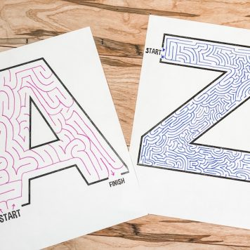 alphabet mazes for kids