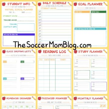 virtual school planner sample